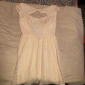 White dress with lace pattern